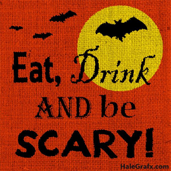 Free Printable Halloween Burlap Art