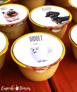 Free Printable Secret Life of Pets Applesauce Cup Toppers