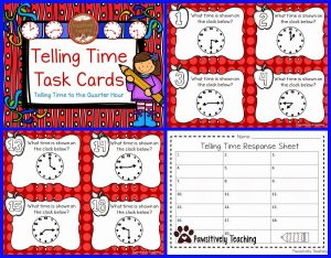 photograph regarding Free Printable Task Cards identified as Cost-free Printable Telling Period Match Pack