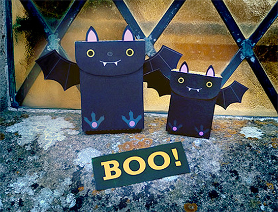 Free Printable Bat Halloween Party Favor Bags