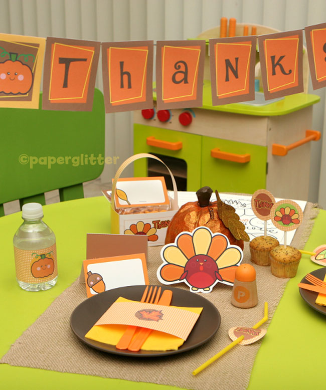 Free Printable Thanksgiving and Fall Kit