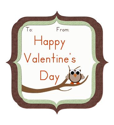 Free Printable Owl Valentine Card