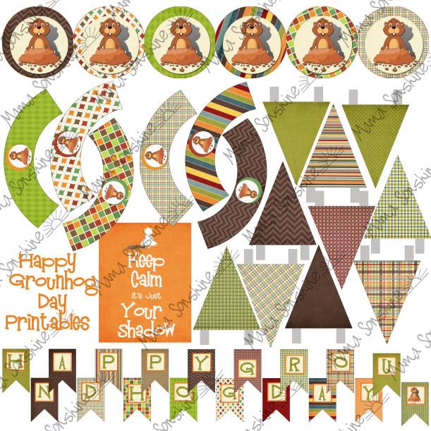 Free Printable Groundhog Day Decorations