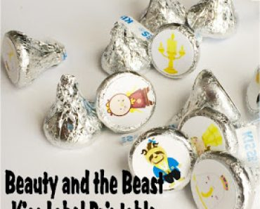 Beauty and the Beast Kiss Label Printable