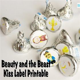 Free Printable Beauty and the Beast Hershey Kiss Labels