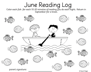 Free Summer Reading Log Printables
