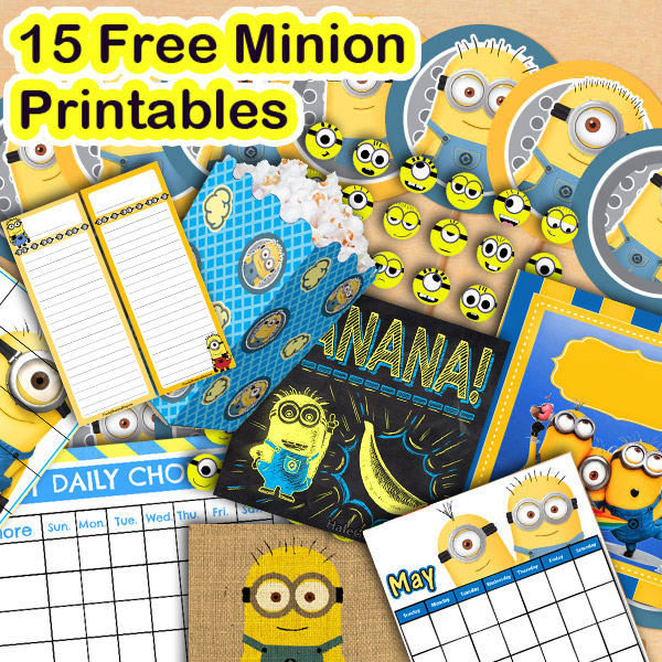 picture relating to Minion Printable Free called 15 Totally free Minion Printables
