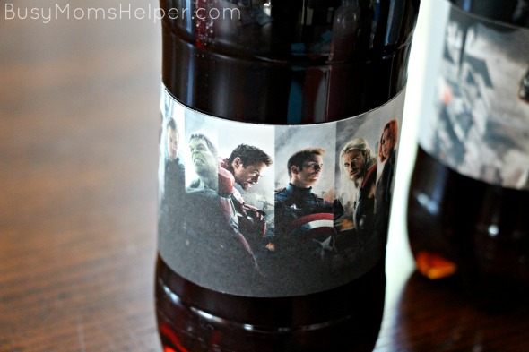 Free Printable Avengers Water Bottle and Snack Labels