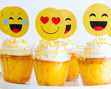 image regarding Free Printable Emojis named Free of charge Printable Emoji Cupcake Toppers