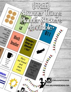 Free Printable Stranger Things Planner Stickers