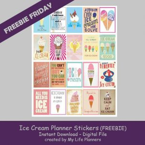 Free Printable Ice Cream Planner Stickers
