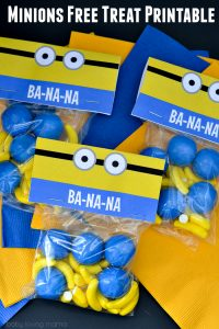 Free Printable Minion Treat Bag Label