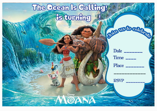 Free Printable Moana Party Invitation