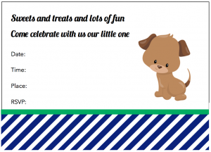 Free Printable Puppy Dog Party Invitations