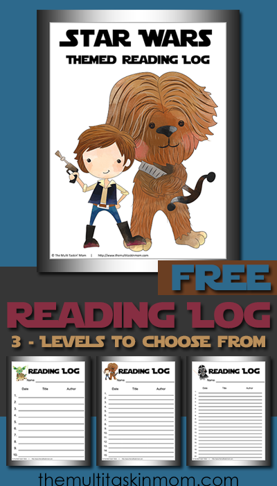 Free Printable Star Wars Themed Reading Logs