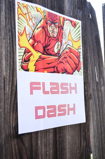 Free Printable Flash Dash Party Game Poster