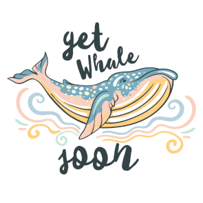 photo relating to Get Well Soon Printable Cards named Absolutely free Printable Buy Perfectly Before long Whale Card