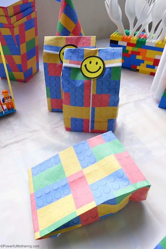 Free Printable Lego Party Favor Bag Template