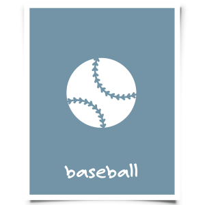 Free Printable Baseball Nursery Print