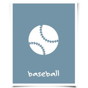 Free Printable Baseball Nursery Print