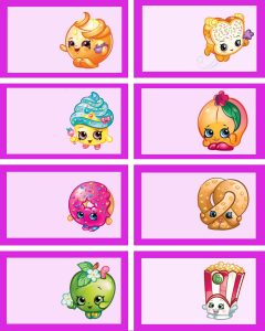 image regarding Free Printable Food Labels named Free of charge Printable Shopkins Foodstuff Labels