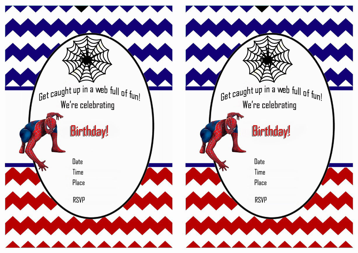 photograph about Printable Spiderman Invitations identified as No cost Printable Spiderman Birthday Invites Totally free