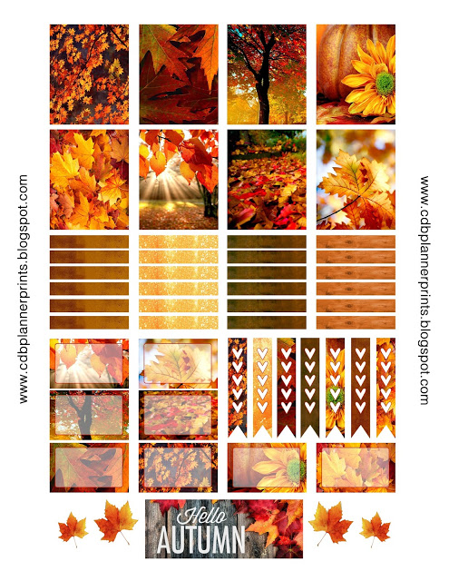 Free Printable Autumn Planner Stickers