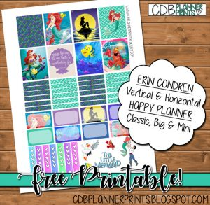 Free Printable The Little Mermaid Planner Stickers