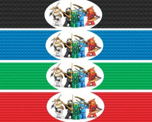 Free Printable LEGO Ninjago Water Bottle Labels