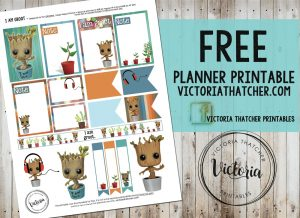 Free Printable I Am Groot Planner Stickers