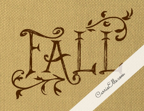 Free Printable Burlap Fall Print