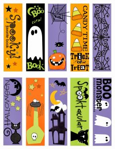Free Printable Halloween Bookmarks