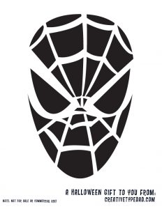 Free Printable Spider-Man Halloween Pumpkin Stencil