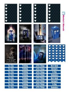 Free Printable Dr. Who Planner Stickers