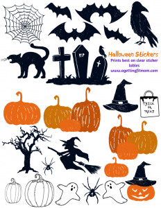 graphic relating to Halloween Stickers Printable known as Free of charge Printable Halloween Stickers