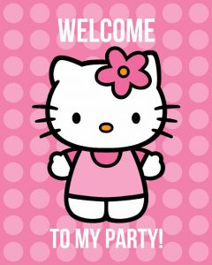 Free Printable Hello Kitty Party Poster