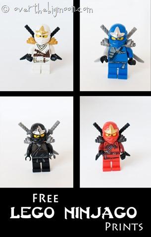 Free LEGO Ninjago Art Printables