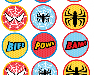 picture relating to Batman Cupcake Toppers Printable named Cupcake Topper/Social gathering Circles