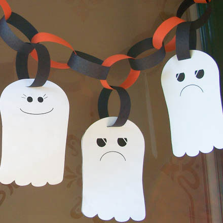 Free Printable Ghost Garland Template