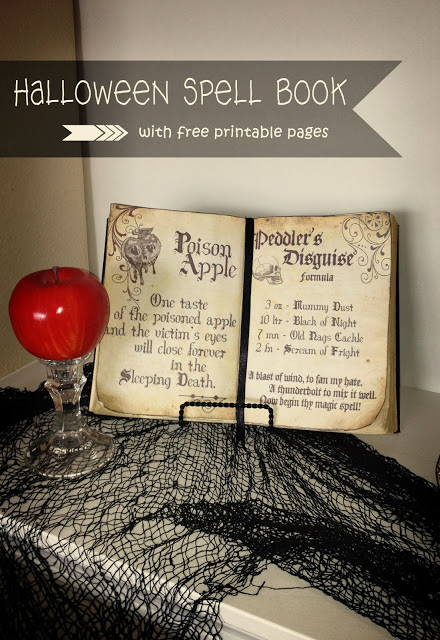Free Printable Halloween Spell Book Pages Free