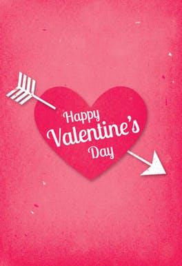 Free Printable Valentine's Heart Greeting Card