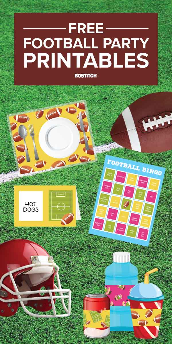 Free Printable Football Party supplies and activities